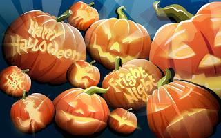 Happy Halloween pumpkins clipart