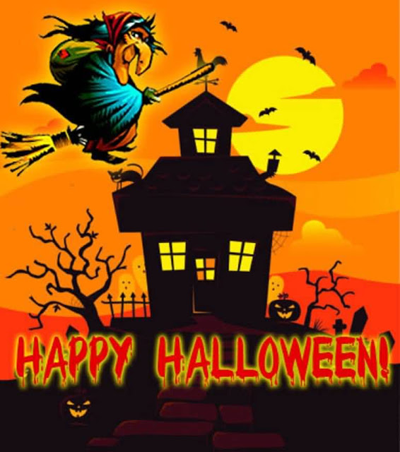 Genial Happy Halloween Wishes Witch Images