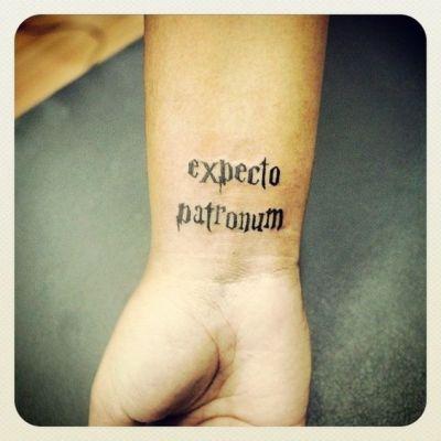 Harry Potter Magic spell Deathly Hallows Tattoo