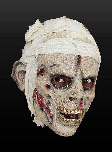 Shrouded Mummy Mask Made of Latex