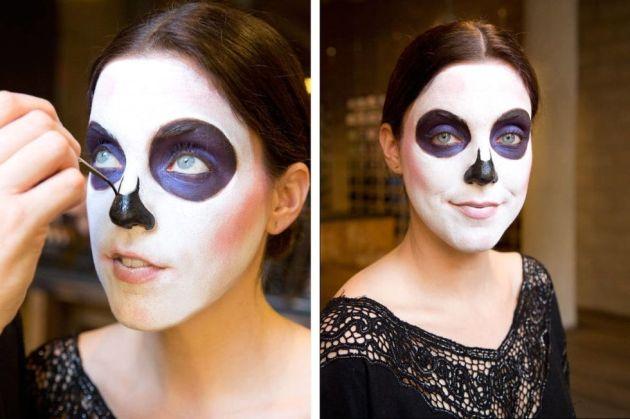Sugar Skull Face paint Idea with M. A. C. cosmetics by Keri Blair