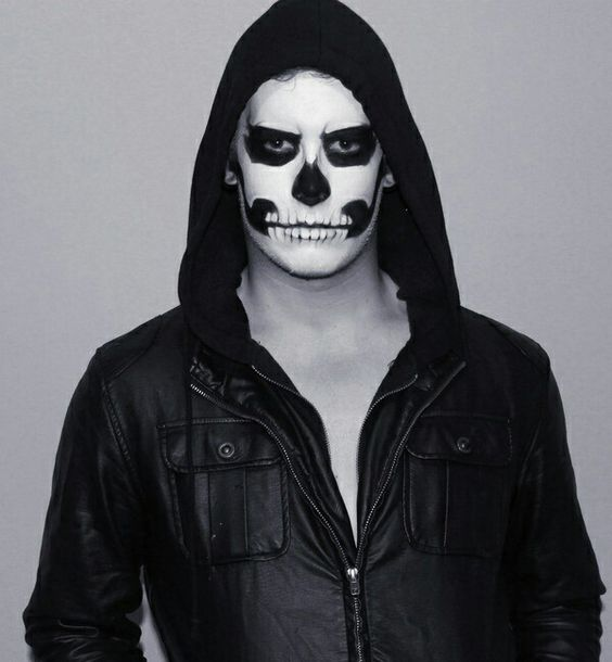 Trendy Big Bang male skull paint