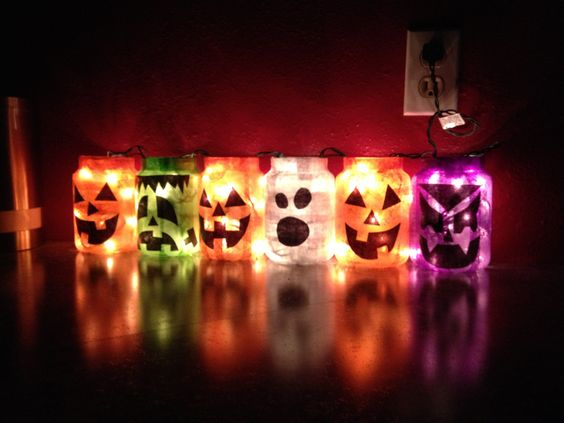 Yankee Candle jars Halloween decorations