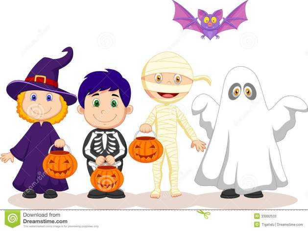 cartoon-happy-halloween-party-children-trick-treating-illustration