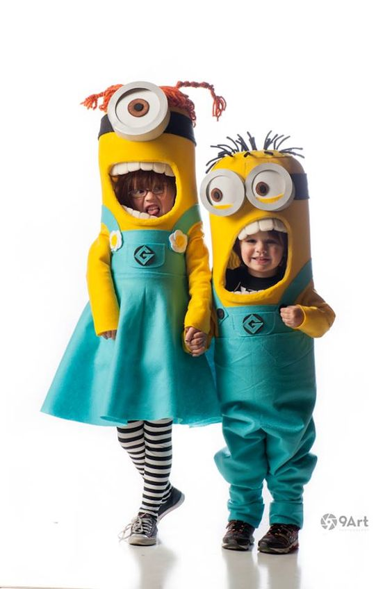 cute diy kids Minions costume ideas