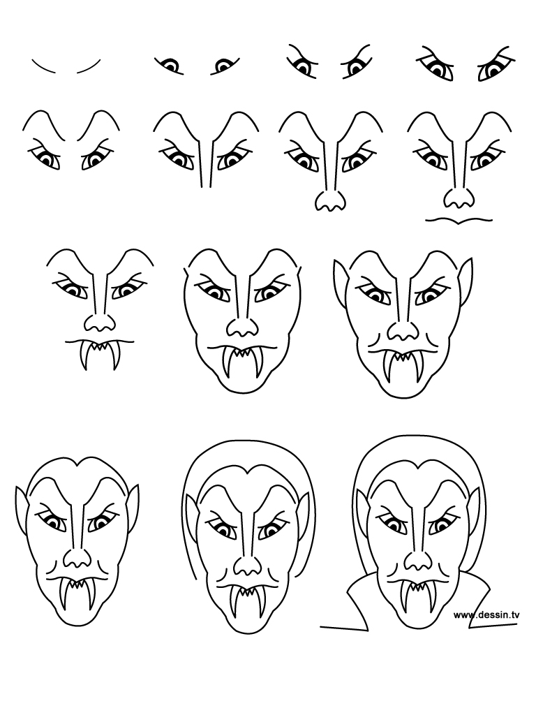 Learn How To Draw 10 Easy Halloween Characters On Pages