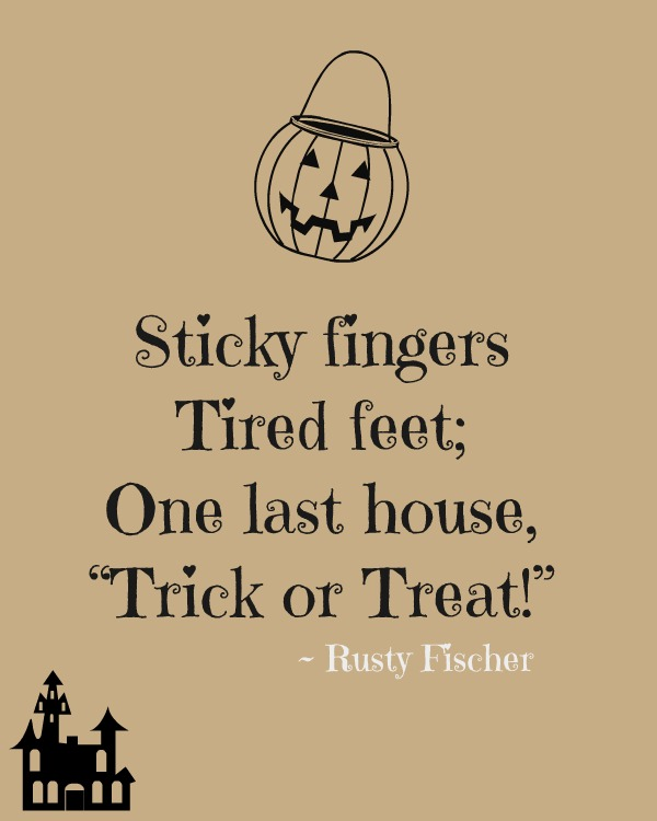 50 Best Happy Halloween Quotes Wishes Greetings And Sayings With Pictures: Sticky Fingers Tired Feet One Last House Trick Or Treat