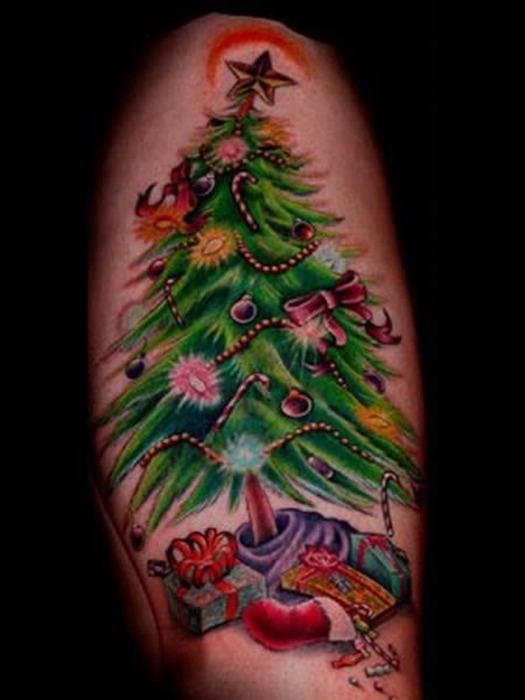 Christmas Tree tattoo design