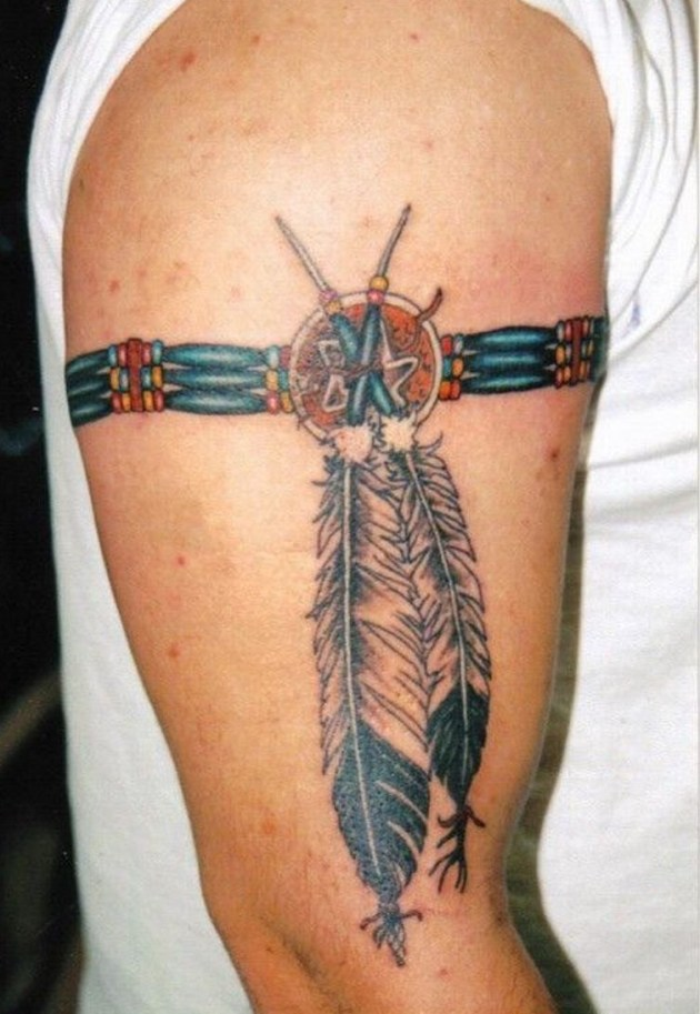 american indian bracelet tattoo for men