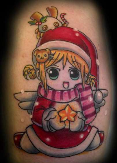 santa gifts tattoo