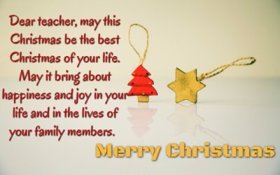 Best Christmas Wishes for teacher