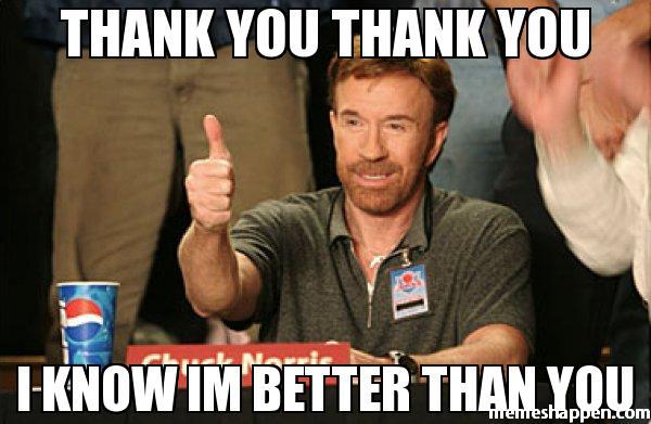 chuck norris thank you meme | EntertainmentMesh