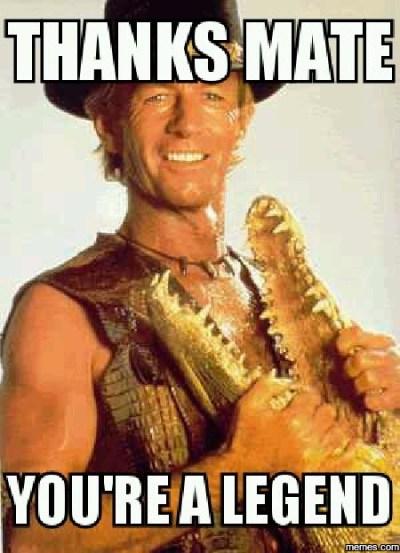 cocodrilo dundee thank you meme