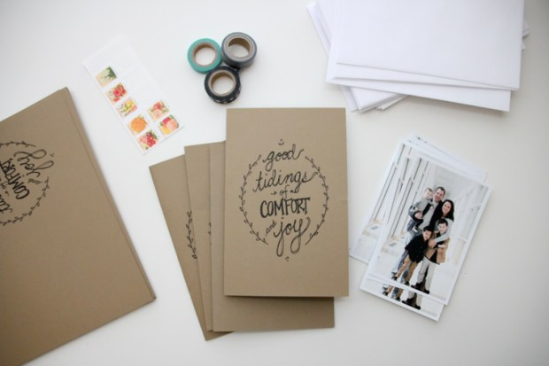 diy photo christmas cards