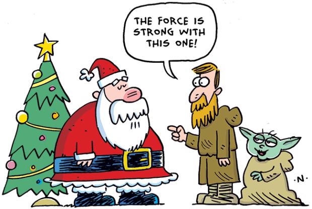 funny Christmas comics santa jokes