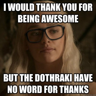 funny game of thrones thank you meme