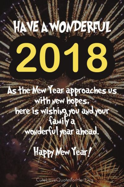 new years 2018 wishes greetings quotes picture
