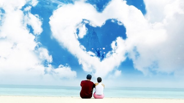 romantic scenery background