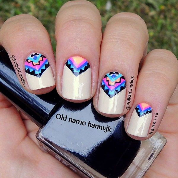 1 triangular nail design