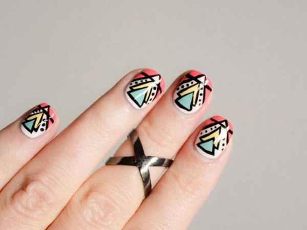 6 triangular nail design