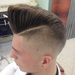 Slanting High Cliff Flat Top Haircut