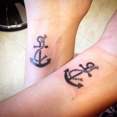 anchor with rope tattoo