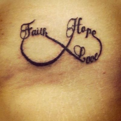 faith hope love infinity tattoo
