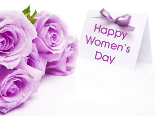 happy womens day flowers