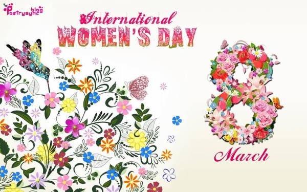international womens day floral background
