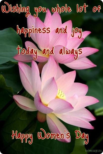 joyful wishes for womens day 2018