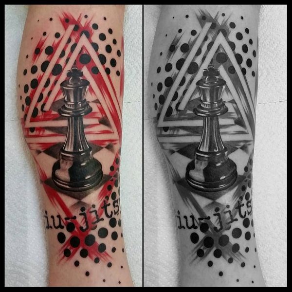 7243d6f65 20 Mind-blowing Realistic Black & Red Trash Polka Tattoo Ideas