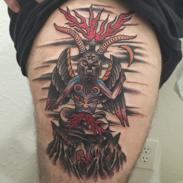 baphomet traditional tattoo designs