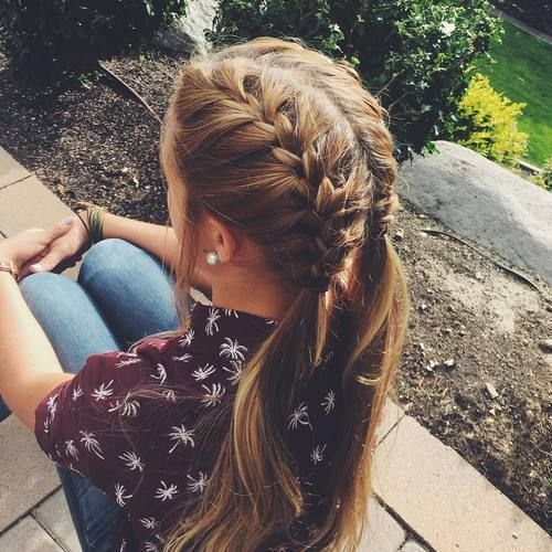 easy french braided pigtails