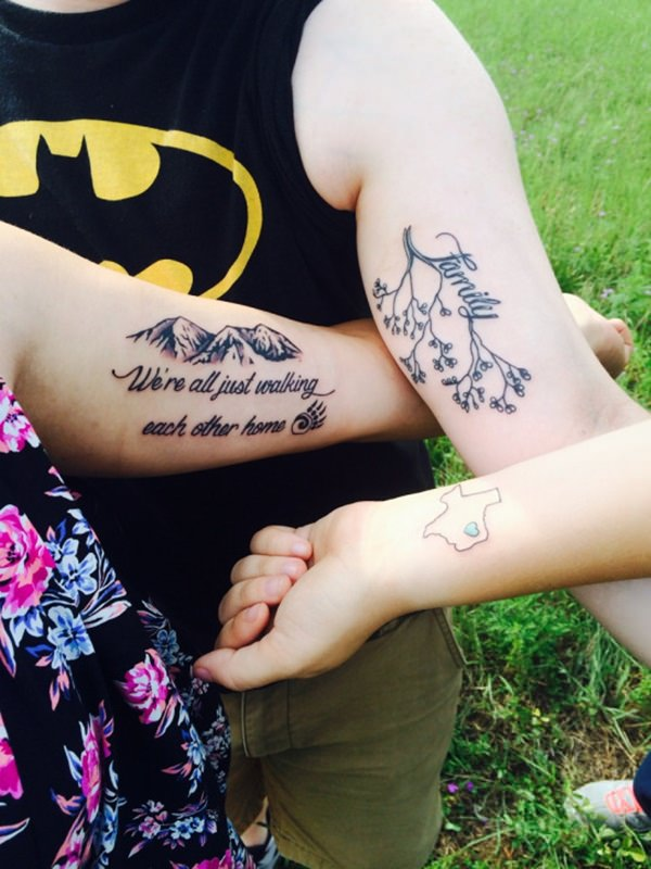 family tree with family quote tattoo ideas   EntertainmentMesh