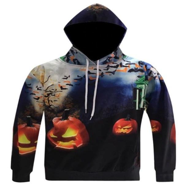 scary lightning pumpkins and bats halloween night hoodie