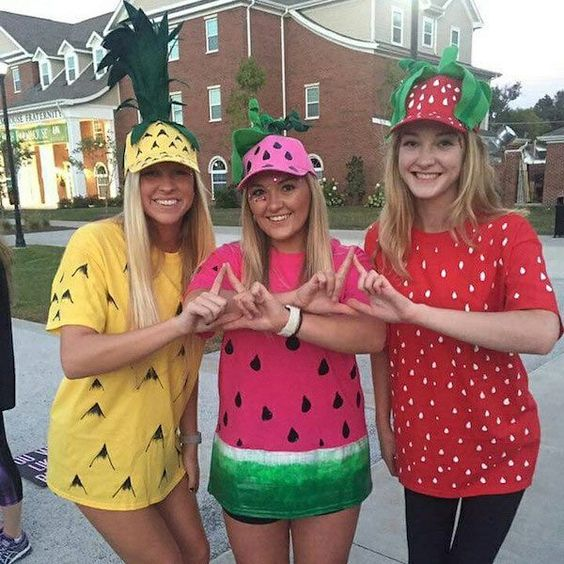 Fruit 3 Girls College Group Halloween Costume Ideas