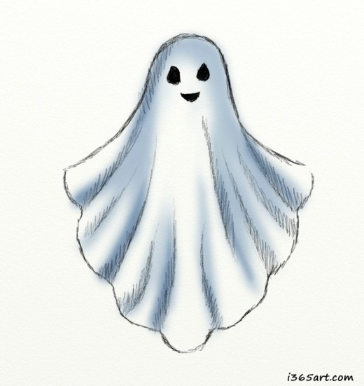 how to draw so cute halloween ghost
