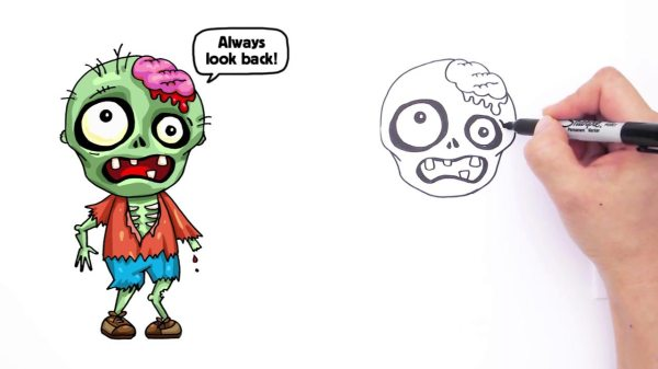 how to draw so cute zombie cartoon drawing