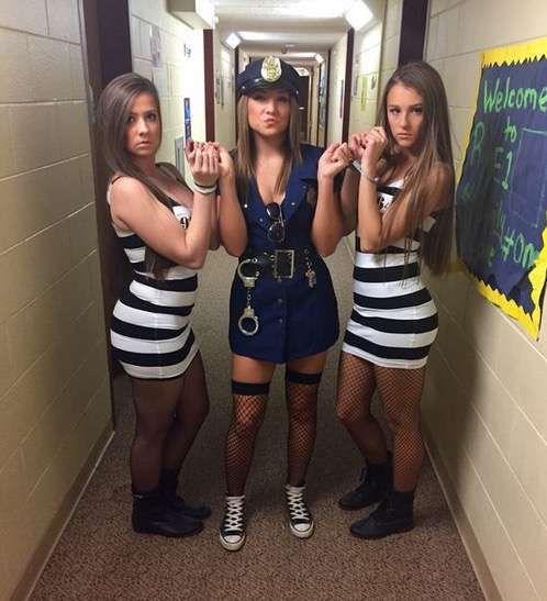 Police Cop Robbers College Girls Halloween Costume Ideas