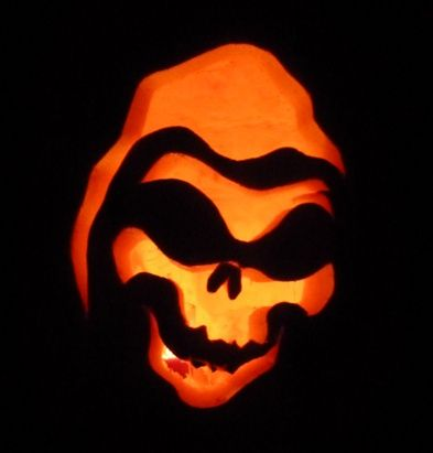 scary face grim reaper pumpkin carving ideas for halloween