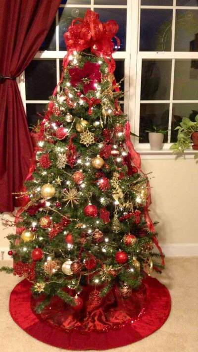 Christmas tree decorations with ornaments