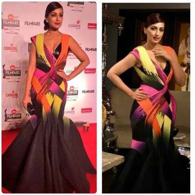 Sonali Bendre colorful outfit
