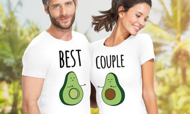 cute matching design couples t-shirt outfits