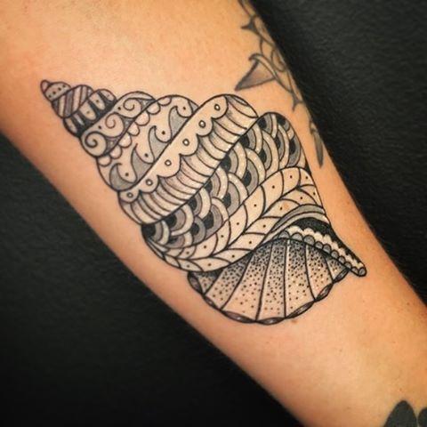 conch shell tattoo