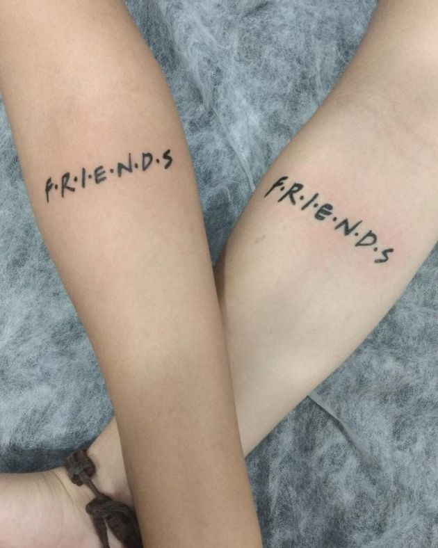 letter friends tattoo ideas as symbol for best friends