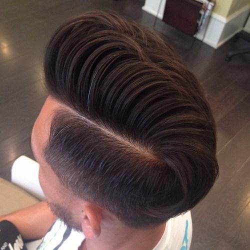 men haircut types-side part pompadour