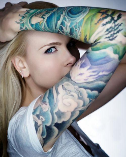 female full sleeve tattoo ideas