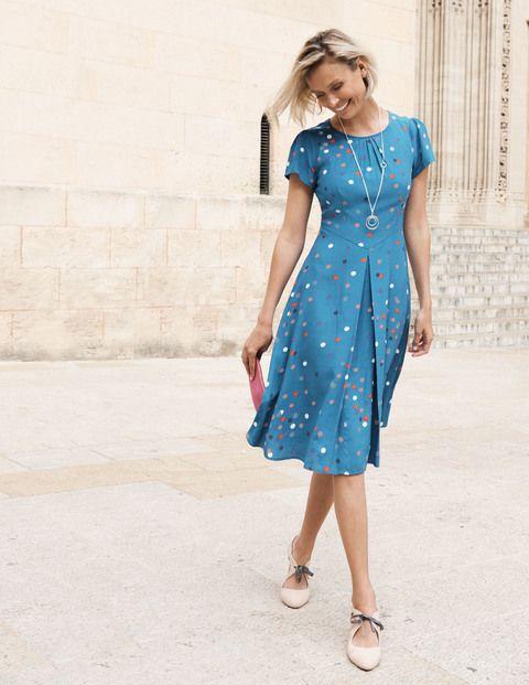 angled waist cotton dress