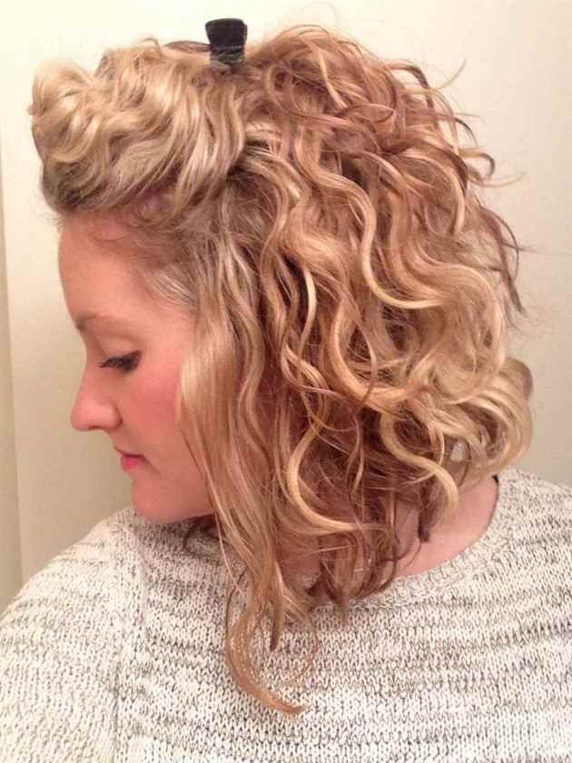 medium length curly layered haircut