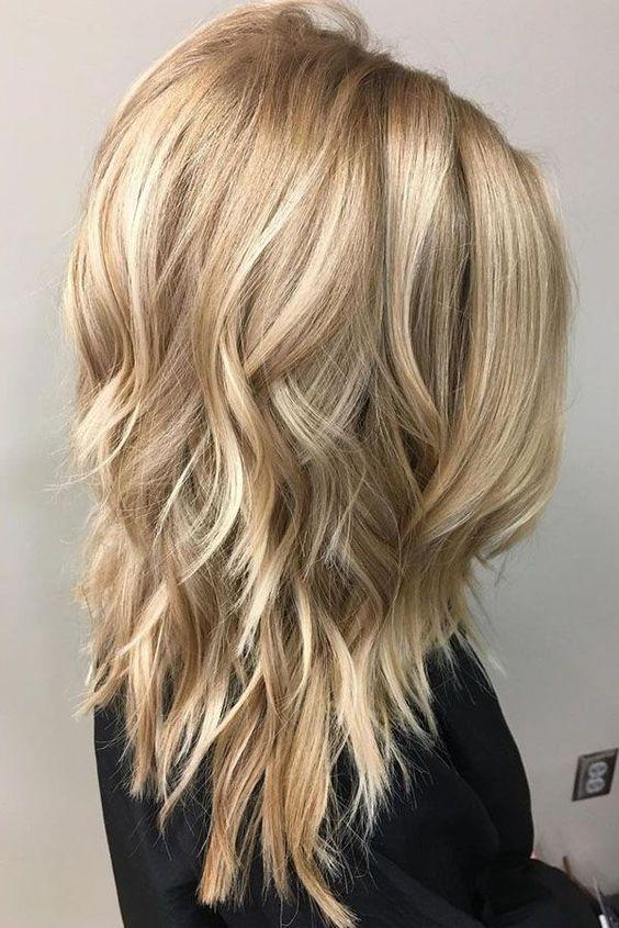 medium length layered haircut